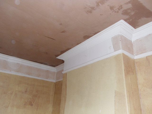 Mellor Edwardian ceiling replastered