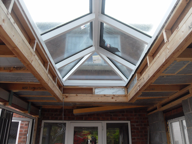 Lantern skylight before plasterboard and skim